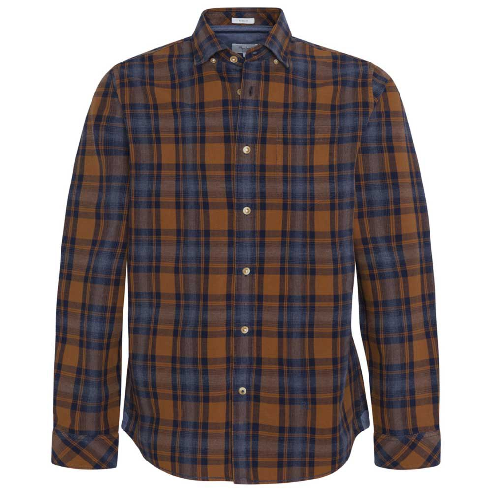 CAMISA PEPE JEANS STEPHEN CUADROS OCRE/MARINO