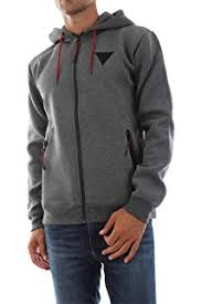 SUDADERA GUESS BARRY HOODIE TRACK FLEECE GRIS CON CAPUCHA